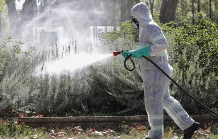 La pedanía utrerana de Pinzón fumiga contra el virus del Nilo