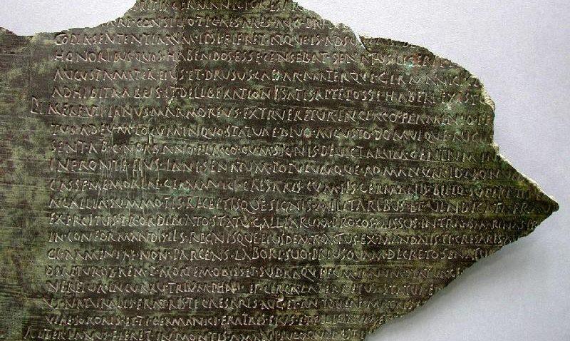 La «Tabula Siarensis», el testimonio más valioso del pasado romano de Utrera