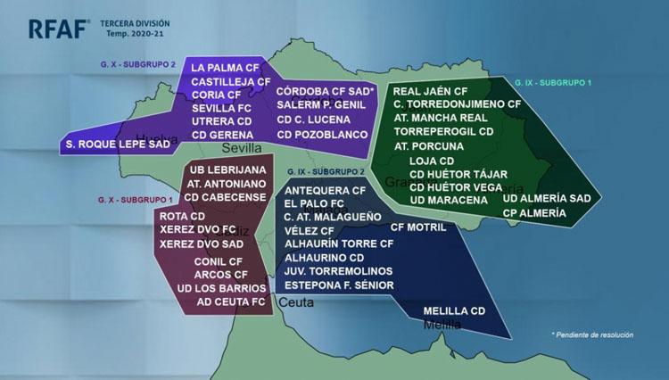El C.D. Utrera militará en el subgrupo 2 del grupo X de la Tercera División