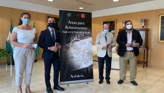 Turismo participa en la edición de una guía para los usuarios de autocaravanas en la provincia de Sevilla