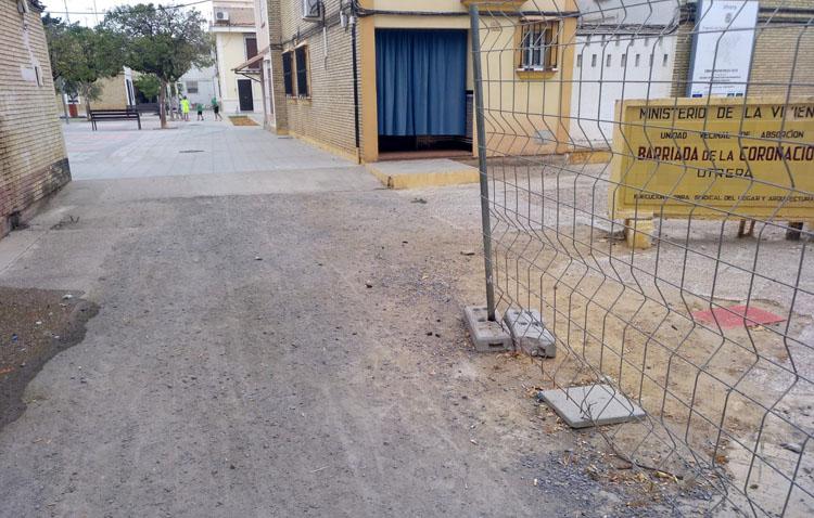 Juntos por Utrera pide al gobierno municipal que finalice las obras de la barriada Coronación