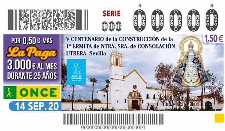 El quinto centenario de la primitiva ermita de Consolación, protagonista este lunes del cupón de la ONCE
