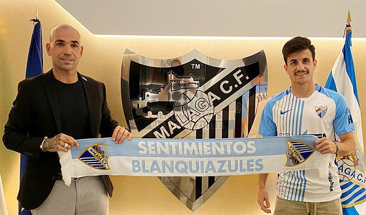El futbolista utrerano José Joaquín Matos, nuevo jugador del Málaga C.F.