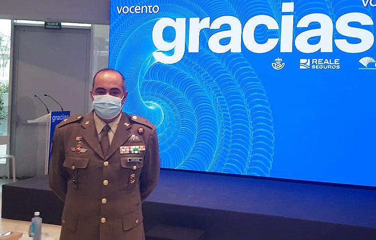 El utrerano José María Martín Corrochano, protagonista de un emotivo homenaje por su labor en la UME durante la pandemia
