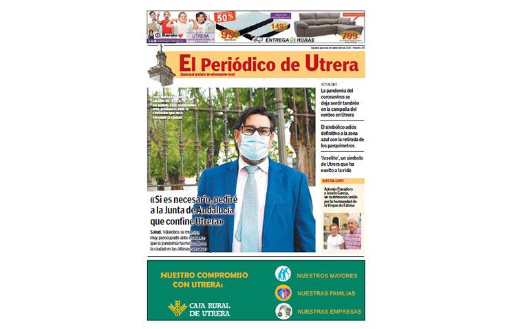 Todos los datos sobre el empeoramiento de la situación sanitaria, en las páginas de «El Periódico de Utrera»