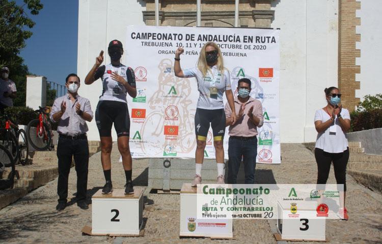 La ciclista utrerana Anne Calvo hace historia y se proclama campeona de Andalucía en ruta