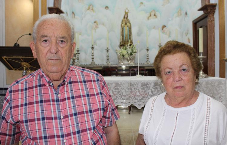 El matrimonio Antonio Panadero y Josefa García, alma de la hermandad de Fátima a lo largo del último medio siglo