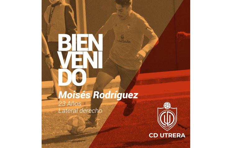 El lateral derecho Moisés Rodríguez, nuevo fichaje del C.D. Utrera