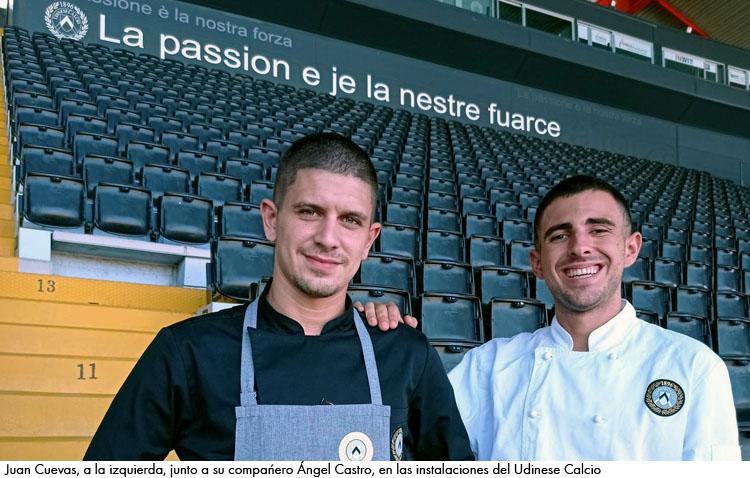 Juan Cuevas, un utrerano que cocina para un equipo de la élite del fútbol italiano