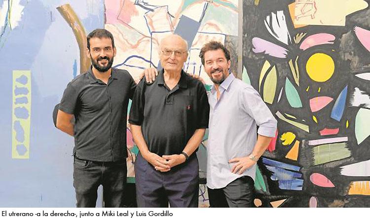 El pintor utrerano Rubén Guerrero, presente en una original exposición en el sevillano «Espacio Santa Clara»
