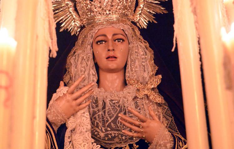 La hermandad del Silencio celebra los cultos anuales en honor a la Virgen de las Lágrimas