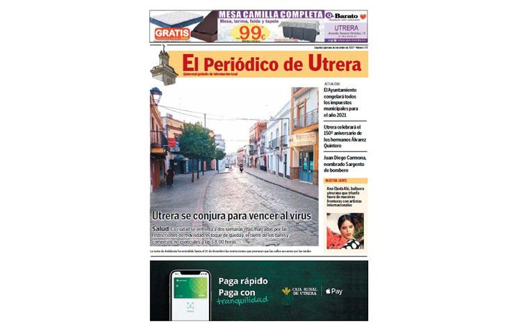 «El Periódico de Utrera» vuelve con la última hora de la pandemia y toda la actualidad