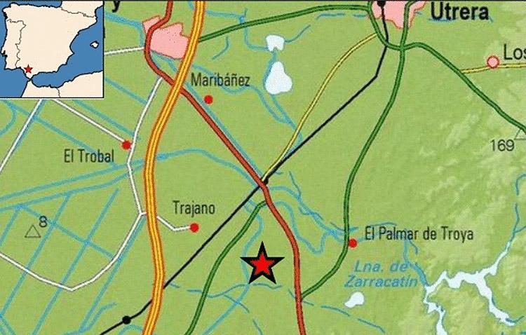 Registrado un terremoto a pocos kilómetros de Utrera