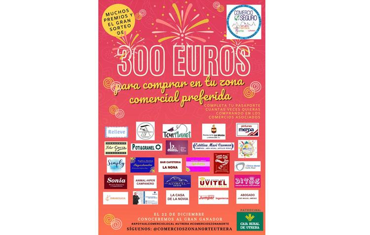 El grupo de comercios de la zona Norte de Utrera sortea 300 euros entre las personas que compren en sus establecimientos