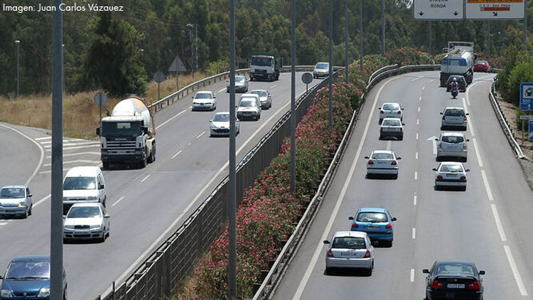 La pandemia redujo entre enero y julio en 6.200 vehículos diarios el tránsito en la autovía de Utrera