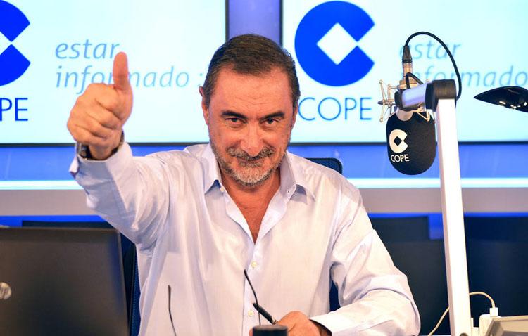 Carlos Herrera se convierte en el comunicador que más crece, con 2.432.000 oyentes en COPE