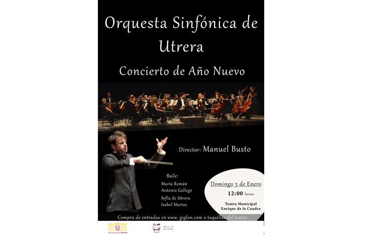 Concierto de año nuevo con la orquesta sinfónica de Utrera