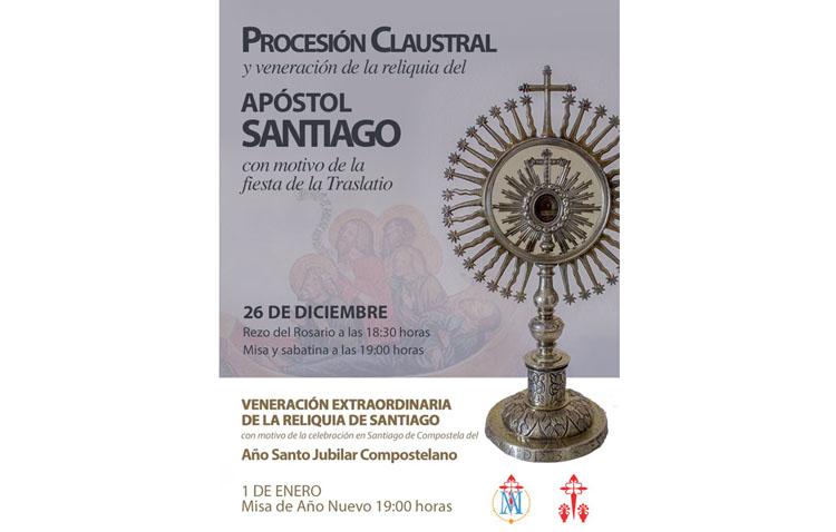Procesión claustral y veneración de la reliquia del apóstol Santiago en Utrera