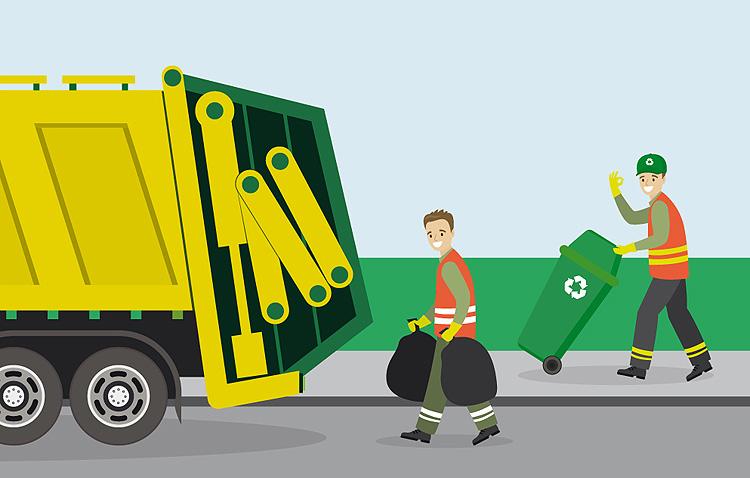 El servicio municipal de recogida de basura adelanta también su horario este jueves con motivo de la Nochevieja