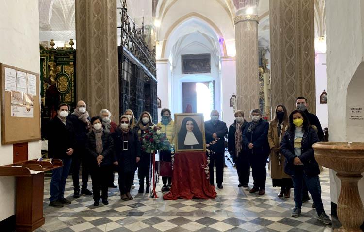 La parroquia de Santa María recibe un cuadro de Ana María Janer en la «Semana Janeriana» de la Sagrada Familia
