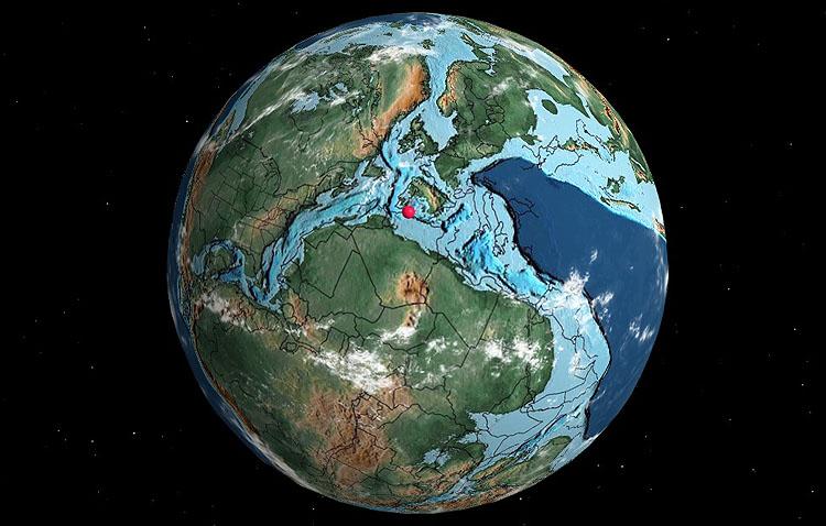 ¿Dónde estaba Utrera en la era de los dinosaurios?