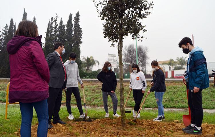 Una especial plantación de árboles como herramienta para educar en valores a los más jóvenes de Utrera