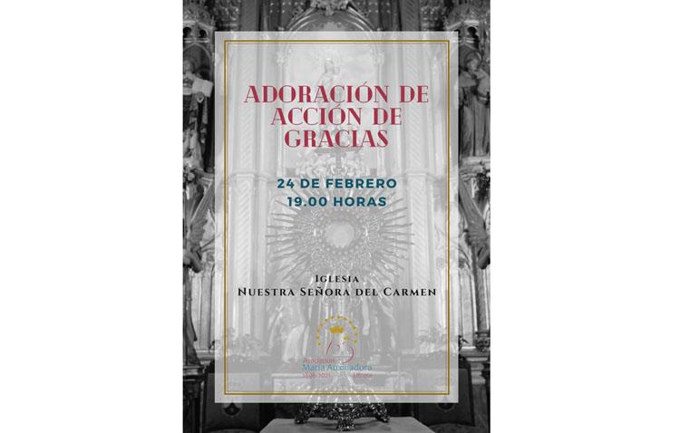 Una adoración eucarística de acción de gracias por el 125º aniversario de la asociación de María Auxiliadora de Utrera