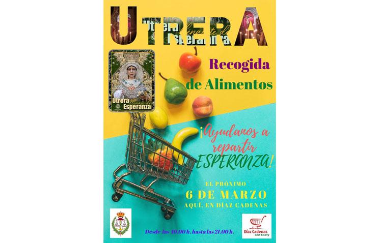 Jornada solidaria de sábado en Utrera con la campaña de recogida de alimentos de la hermandad de los Gitanos