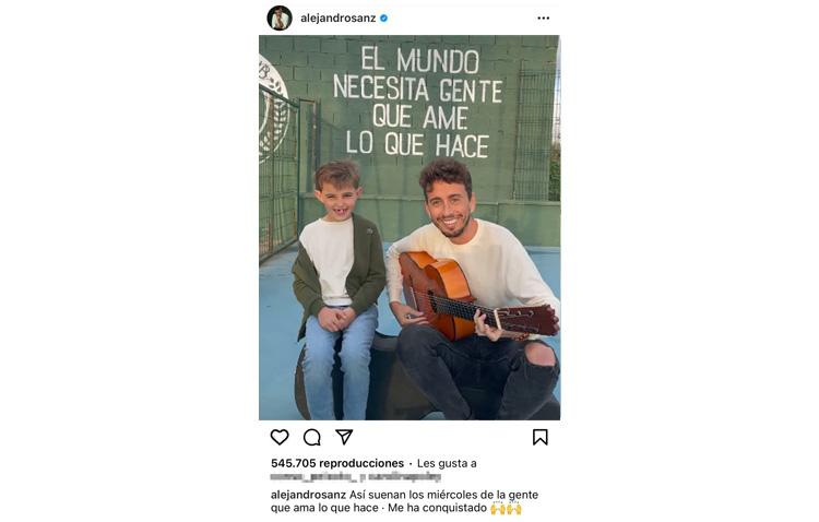 Alejandro Sanz se rinde ante Juanlu Montoya y su hijo (VÍDEO)