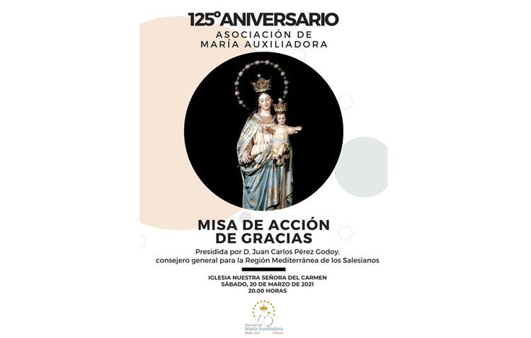 Una misa de acción de gracias para celebrar los 125 años de vida de la asociación de María Auxiliadora de Utrera