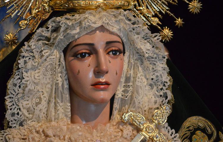 La hermandad de la Quinta Angustia celebra los cultos anuales en honor a la Virgen de los Ángeles