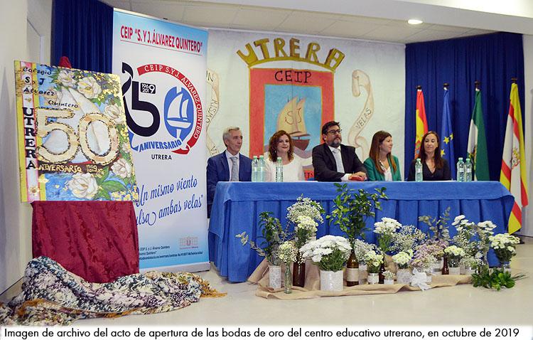El colegio Álvarez Quintero clausura este viernes su cincuentenario con un especial acto en el teatro de Utrera