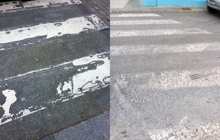 Juntos por Utrera denuncia el «lamentable estado» de los pasos de peatones