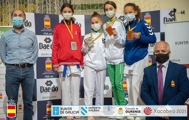 Lola Matos se alza con el bronce en Campeonato de España Infantil de Kárate
