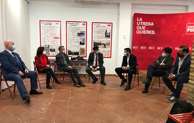 El PSOE de Utrera y de Los Palacios se suman al proyecto de la conurbación y el desdoble de la carretera