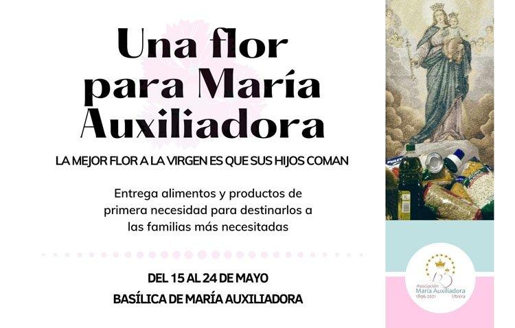 Una campaña de recogida de alimentos y productos de primera necesidad en la asociación de María Auxiliadora