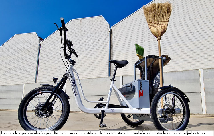 Revolución en el servicio de limpieza viaria de Utrera con la incorporación de triciclos eléctricos para los trabajadores