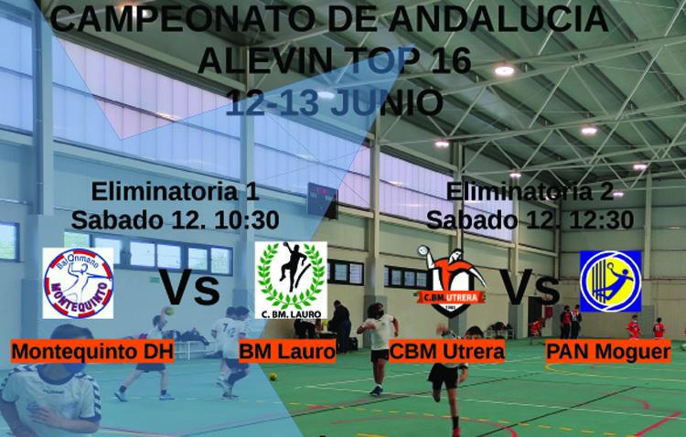 El Club balonmano Utrera, anfitrión del campeonato de Andalucía alevín top 16