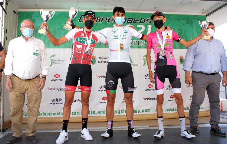 El ciclista utrerano David García Rojas, subcampeón junior de Andalucía