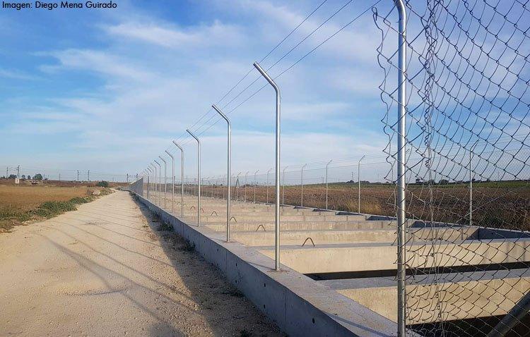 Indignación por el enésimo robo del vallado instalado en el desvío del Calzas Anchas