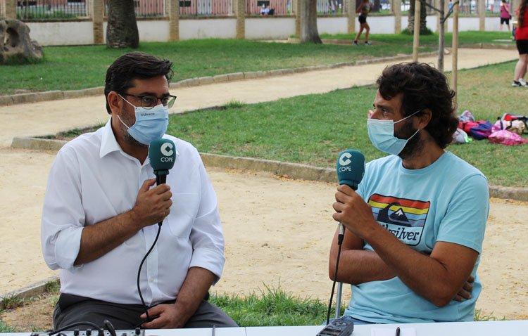 La «Semana del Medio Ambiente», protagonista en un programa especial de COPE Utrera (98.1 FM) en el parque de Consolación [AUDIO]