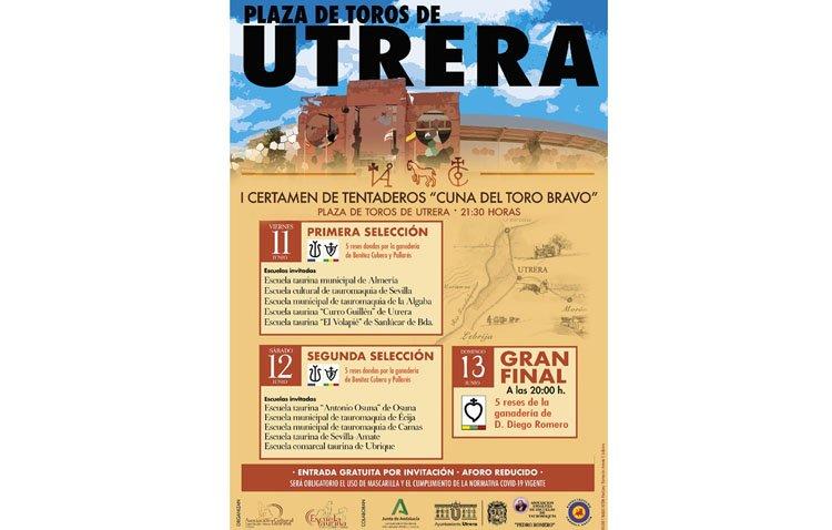 Las invitaciones gratuitas para el certamen de tentaderos taurinos de Utrera, disponibles en la oficina de Turismo y en el Casino