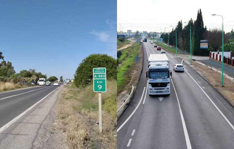 Utrera eleva la enésima reclamación para que se ejecute el desdoble de la carretera de Los Palacios y la variante Este