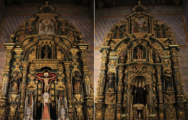 Los retablos laterales del santuario de Consolación 'vuelven a la vida' tras el proyecto de limpieza y consolidación