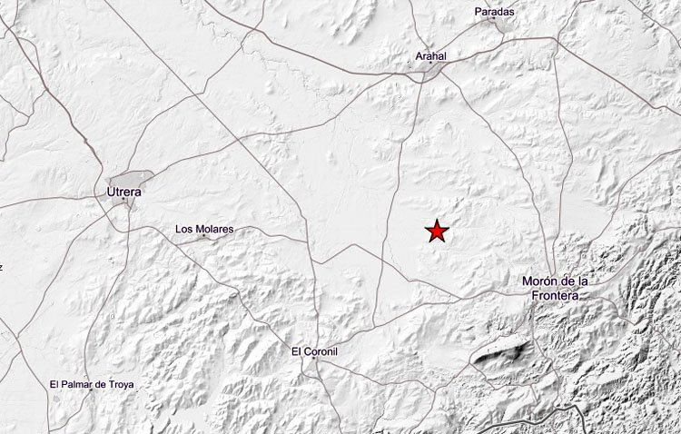 Registrado un terremoto a escasos kilómetros de Utrera