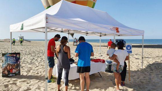 Utrera promociona su oferta turística en las playas de la mano de la Diputación