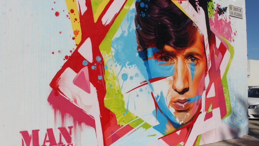 El grafiti de Bambino, un homenaje de Utrera a un artista único