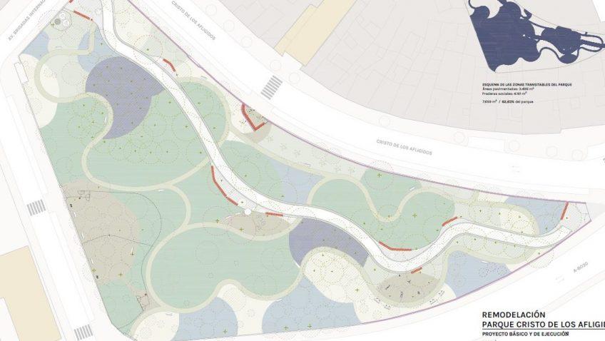 El Ayuntamiento diseña un proyecto para poner en valor el parque Cristo de los Afligidos