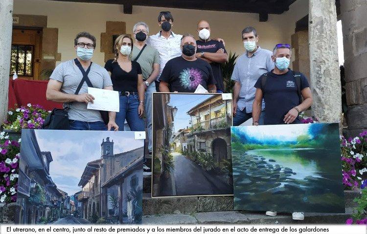 El utrerano Abraham Pinto se proclama campeón de un concurso nacional de pintura rápida celebrado en Cantabria
