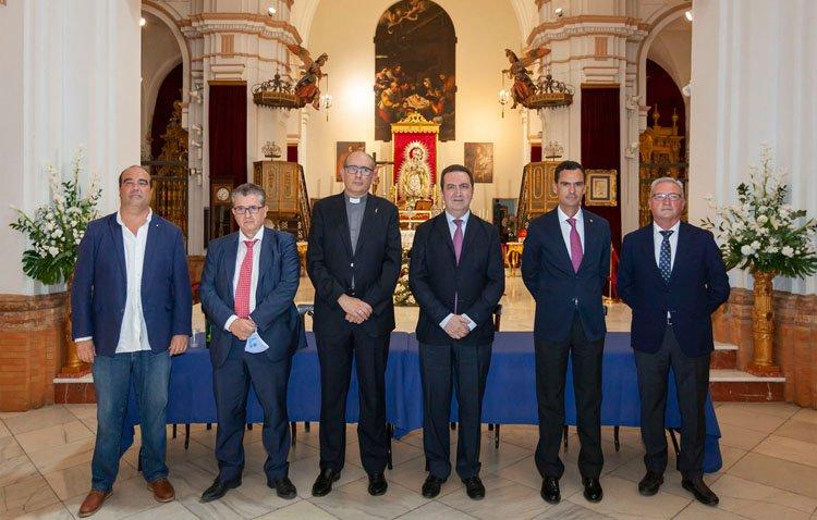 La Fundación Caja Rural de Utrera, pieza fundamental en la restauración del retablo de Santa María la Blanca de Los Palacios